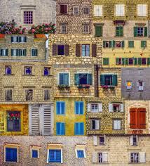 Antique Windows Collage With Antique Windows In Montenegro Stock Photo Ac Natamc