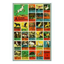 Animal Abc Chart Abc Alphabet Animal Poster Teaching Aid Chart