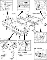 3 front bumper assembly exploded view 1983 86 pulsar