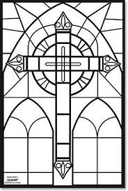 Coloring Pages Stained Glass Crosses Google Search Line Drawings