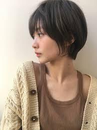 ミセス大人女子の黒髪ショートヘアke 455 ヘアカタログ髪型ヘア