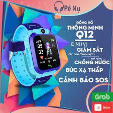 Đồng hồ thông minh trẻ em Q12 định vị cảm ứng chống nước nghe gọi 2 chiều  bản Tiếng Việt - Đồng Hồ Thông Minh
