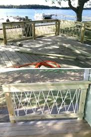 deck rail tables rope railings deck railing table diy