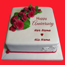 1 Anniversary Cake Images With Name Editor Delicious Cake Recipe