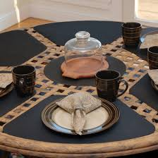 black placemats for round table