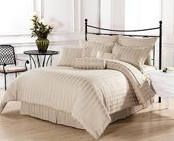 strip light beige bedding