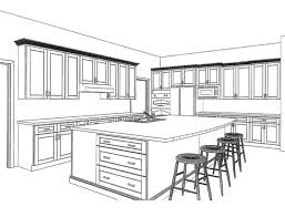 kitchen drawing perspective. Perfect Kitchen 28 Perfect 2 Point Perspective Interior Kitchen On Drawing