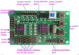 2 phase 4 wire 4 phase 5 wire stepper motor driver control board if you want to control 4 phase 5 wire motor or dc motor please program to this board at first then to connect the motors schematic: