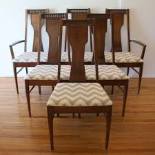 mid century dining room table inspiration mid century modern dining chair set by broyhill upholstered with