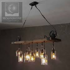 the chesapeake reclaimed wood bottle chandelier