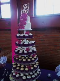 Springfield Wedding Reception Illinois Cupcake Cake Pink Purple