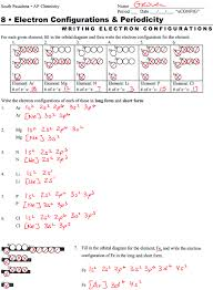 Electron Configuration Worksheet Answers Part A Worksheets