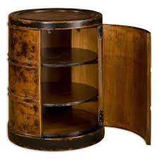 uttermost lawton drum end table end tables at hayneedle