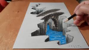 Sketching 3d How To Draw Bridge Drawing 3d Bridge Trick Art