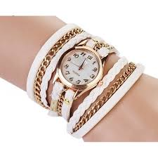 watches white leather wrap stud watch watches las watches mens watches