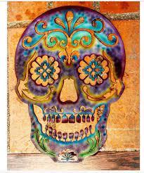 sugar skull day of the dead skull metal