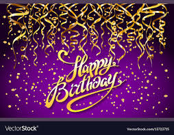 Purple Party Background Happy Birthday Royalty Free Vector