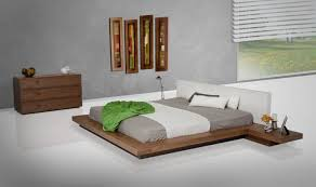 king japanese platform bed. Unique Bed VIG Modrest Opal Low Profile Walnut White Japanese Style King Platform Bed  WNightstands Buy To P