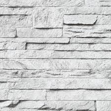 white wall cladding stone brick