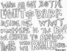 Small Picture Harry Potter Quotes Coloring pages Doodle Art Pinterest