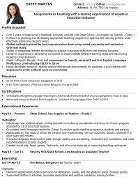Cv Format Teacher Teacher Samples Cv Format For High School Teacher
