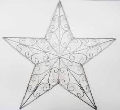 Metal Star Wall Decor Metal Wall Art Silver Star
