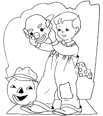 Small Picture Halloween Coloring Pages Free Candy Halloween Preschool Coloring
