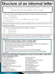 Informal Letter Writing Pack  This unit is a collection of lesson materials to help support and deliver lessons to teach informal letter writing to students Pinterest