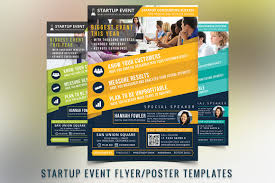 Event Brochure Template Startup Event Flyer Template Flyer Templates Creative Market 1