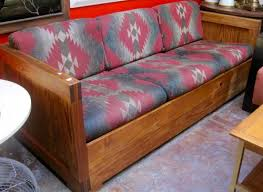 rustic wooden sofa design. Wonderful Rustic SOLD  Deserted Cabin Hand Crafted Wood Sofa With Southwestern  Upholstery U2014 Casa Victoria Vintage Furniture Los Angeles Inside Rustic Wooden Design