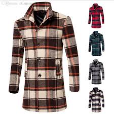 2019 fall mens winter wool long plaid coat manteau homme cappotto overcoats men s jacket erkek mont kaban overcoat coats peacoat jackets from zhusa
