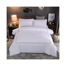 bonenjoy hotel bedding set queen king size white color embroidered duvet cover sets hotel bed linen set bedding pillowcase size queen 3pcs