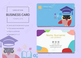 Education Business Card Or Name Card Template Simple Style Also