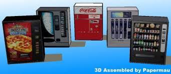 Papercraft Vending Machine Custom PAPERMAU Vending Machines Paper Model Diorama For Miniatures By MBD