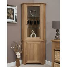 Light Oak Living Room Furniture Eton Solid Oak Living Room Furniture Corner Display Cabinet Unit