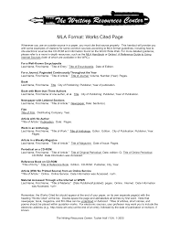 Mla Format Works Cited Website How To Write A Works Cited Mla Format