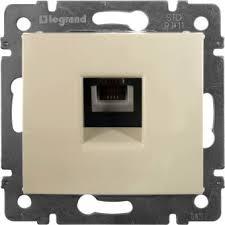 <b>Телефонная розетка</b> Legrand Valena RJ11 4 контакта <b>1</b> выход ...