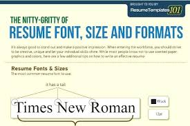 what is the appropriate font size for a resume font size for resume heading