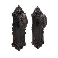 modern interior door handles. Victorian Door Knob Plate Set Privacy Passage And Dummy Black Nickel Interior Handles Handles: Modern O