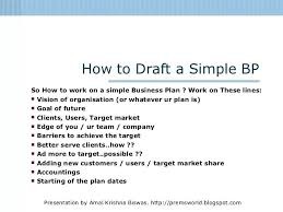 A Simple Business Plan Template Easy Business Plan Template Free Pepino Co