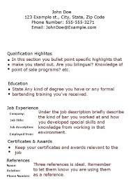 Old Fashioned Server Bartender Resume Template Inspiration - Example ...