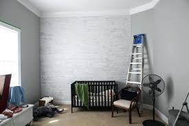 ignore faux white brick wall diy washy
