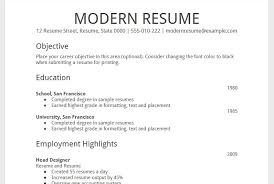 Google Drive Resume Template - Resume Builder