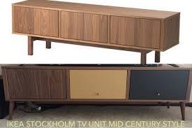Kitchen Sideboard Ikea Ikea Stockholm Mid Century Tv Stand Redo Ikea Hackers Ikea Hackers
