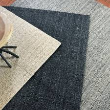 soft hand woven light gray striped area rug 5 x8 wool textured