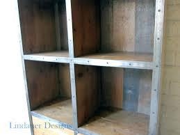 shelves close up diy industrial bookshelf bookcases wood metal bookcase