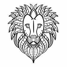 Lion Kleurplaat Download Gratis Vectorkunst En Andere