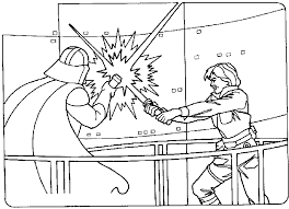 Small Picture Luke Skywalker clipart coloring sheet Pencil and in color luke