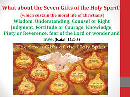 what about the seven gifts of the holy spirit