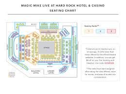 Club Domina Seating Chart Magic Mike Live At Hard Rock